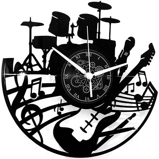 Reloj Disco de Vinilo Instrumentos Musicales