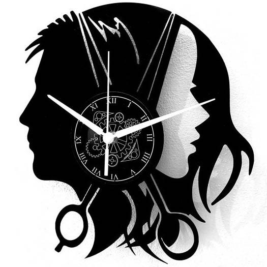 Reloj Disco de Vinilo Peluqueria